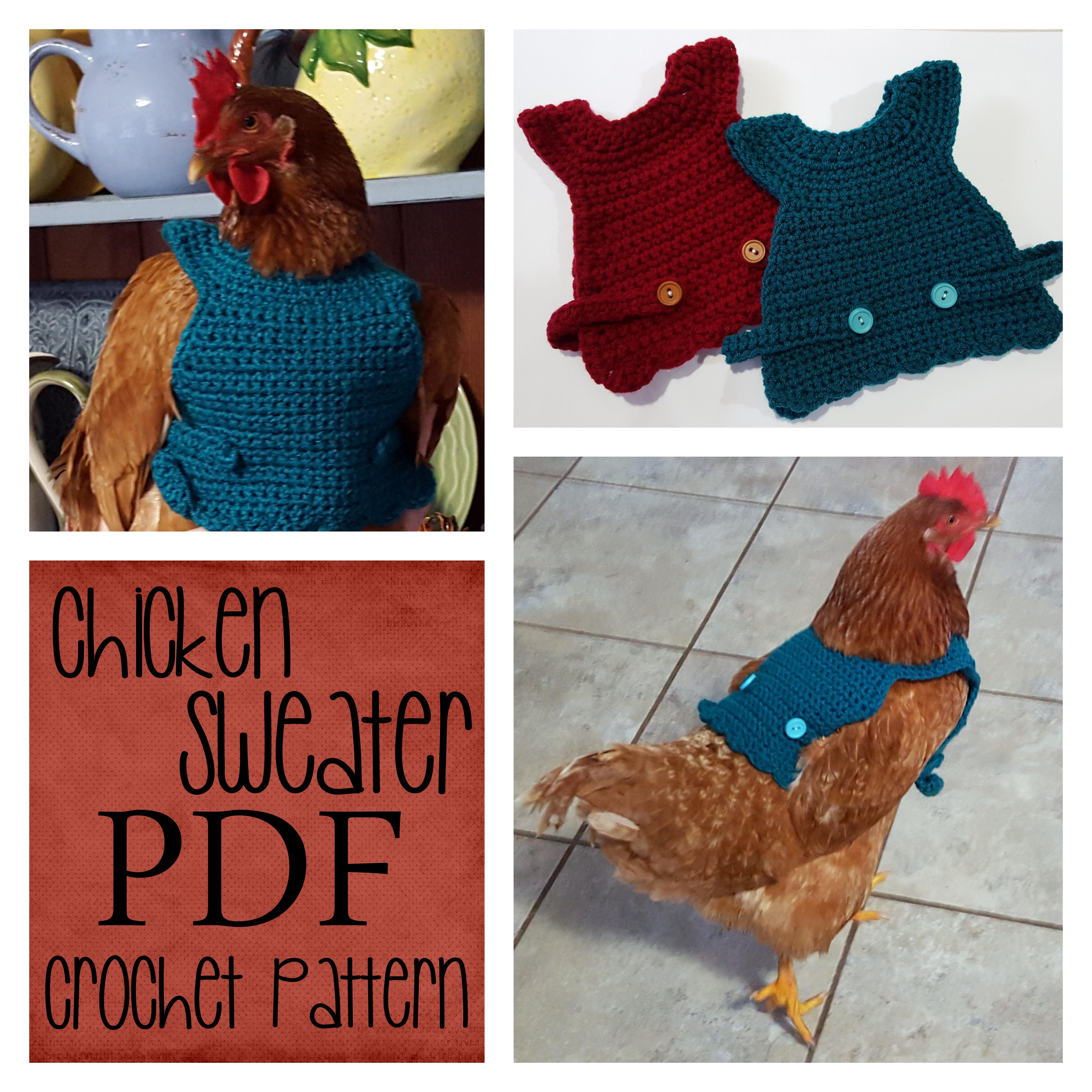 53cf4a3662d7 Chicken Sweater Crochet Pattern – Jasmine Art Works
