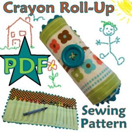 Crayon Roll Up Sewing Pattern