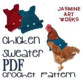 Chicken Sweater Crochet Pattern