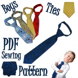 Boys Neck Tie Sewing Pattern