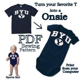 Turn your favorite t-shirt into a Onsie