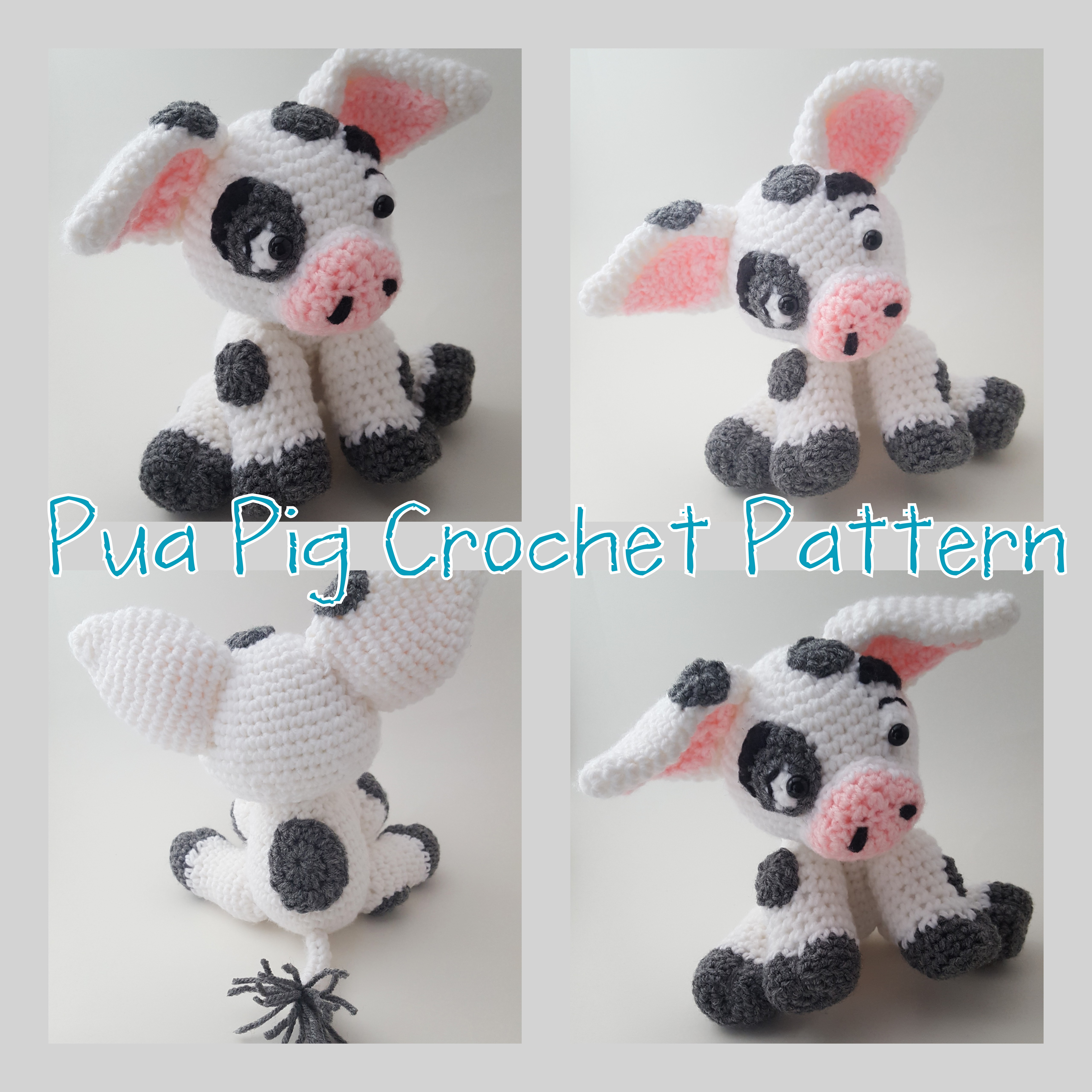 Pua Pig Crochet Pattern – Jasmine Art Works