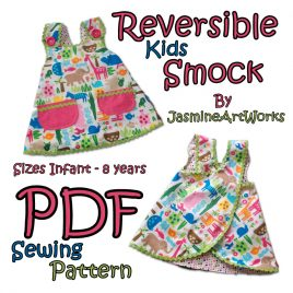 Kids Reversable Smock Sewing Pattern