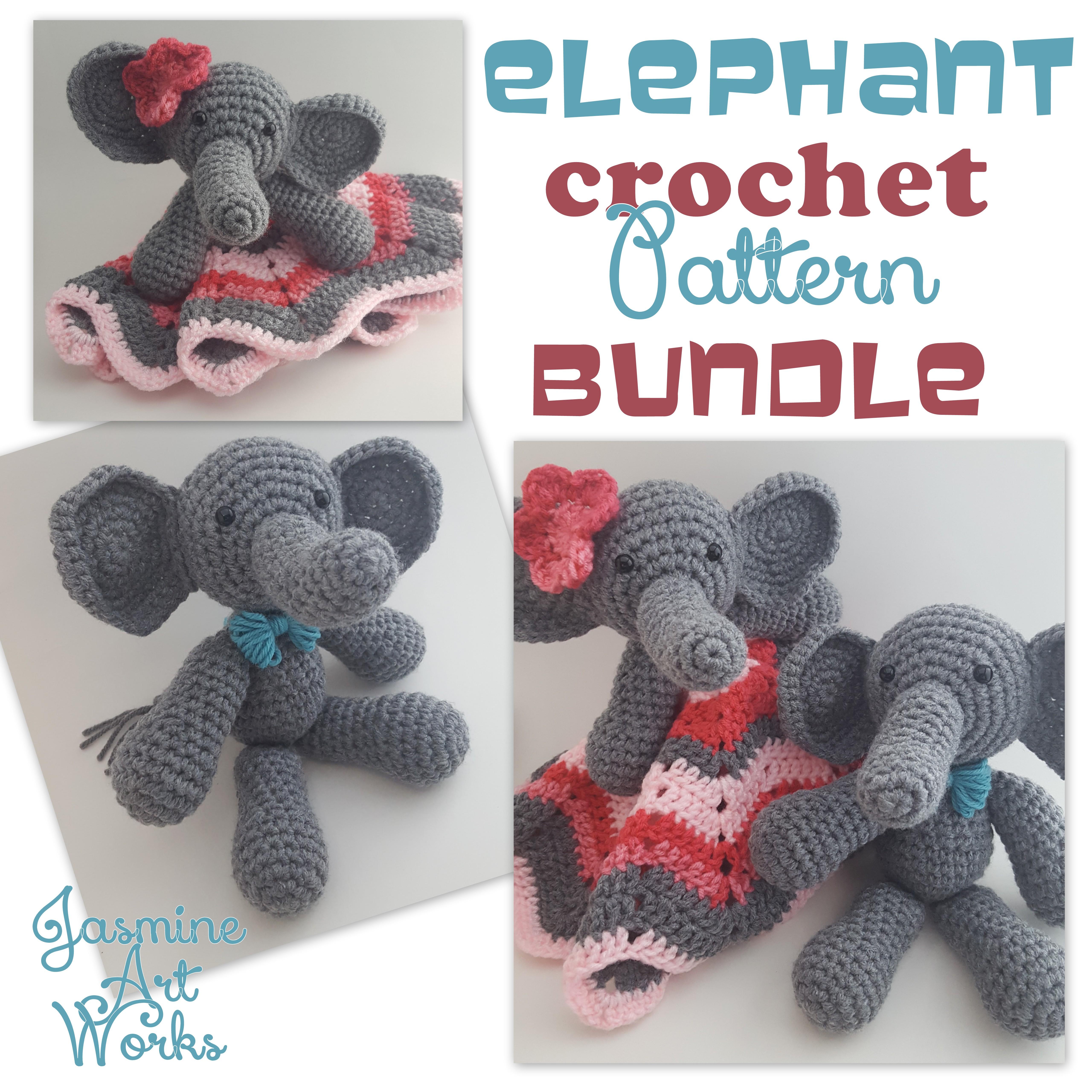 Elephant Lovie Security Blanket Friend Crochet Pattern
