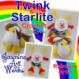 Twink and Starlite Rainbow Bright Crochet Pattern