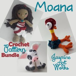 Moana, Hei Hei, Pua Crochet Pattern Bundle
