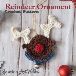 Rudolf Reindeer Crochet Pattern Ornament