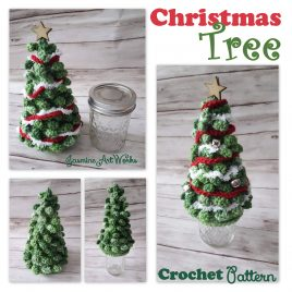 Christmas Tree on a Jar Crochet Pattern