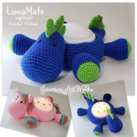 LunaMate Unicorn and Dinosaur Nightlight Crochet Pattern