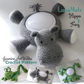 Luna Mate Hippo and Frog Nightlight Crochet Pattern