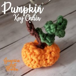 Pumpkin Key Chain Crochet Pattern