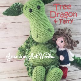 Tree Dragon and the Fairy Crochet Pattern